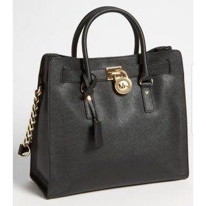 Michael Kors Large Hamilton Saffiano Leather Bag